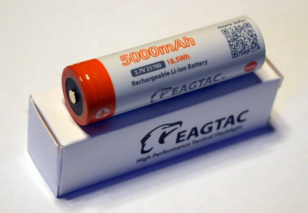 EAGTAC 21700 Lithium Akku, 5000mAh, protected