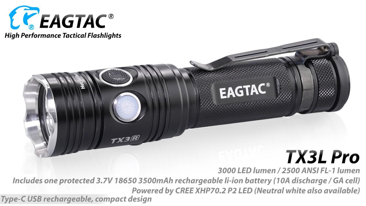 EAGTAC TX3L Pro, Cree XHP70.2