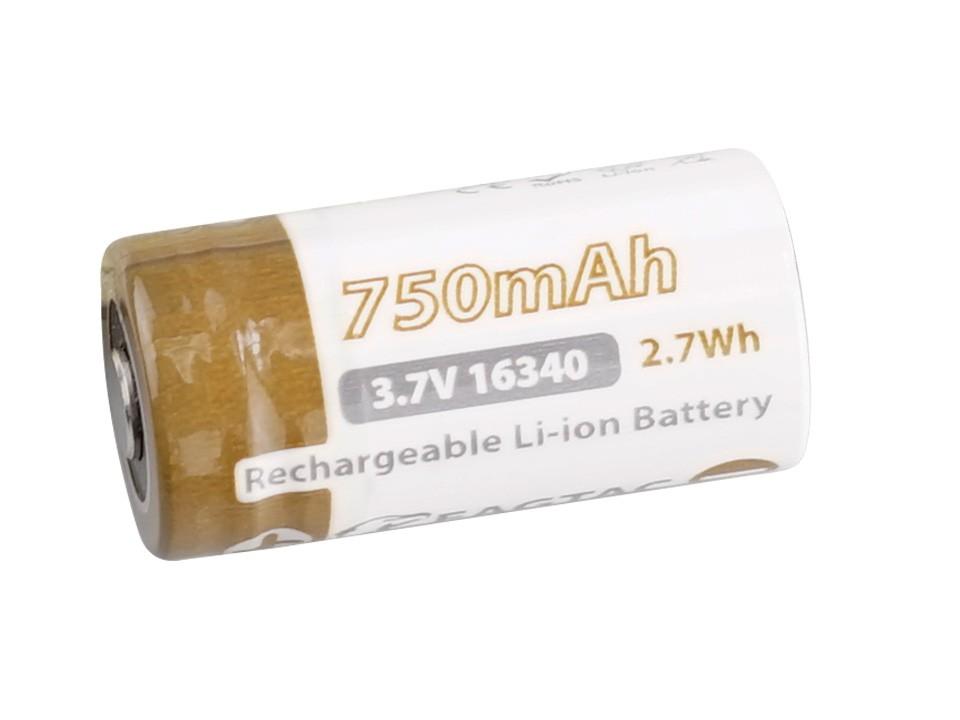 EAGTAC 16340 Lithium Akku, 750mAh, protected